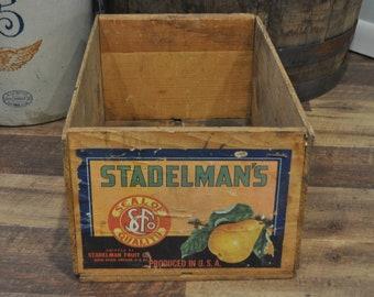 Vintage Wood Crate - Stadelman Fruit Co.