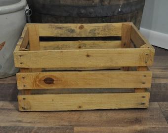 Vintage Wood Crate - Unmarked Apple Crate