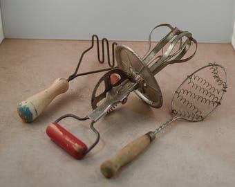 Three Vintage Kitchen Tools