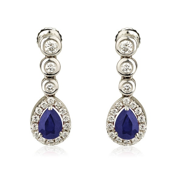 Sapphire Statement Earrings DuetsFineJewelry
