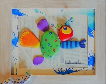 Fish carpastrophique canvas Tildart bestiary