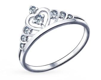 14K Gold CZ Crown Ring, CZ Princess crown ring, Queen ring, Princess ring, Gold Crown Ring, Tiara ring, Crown ring