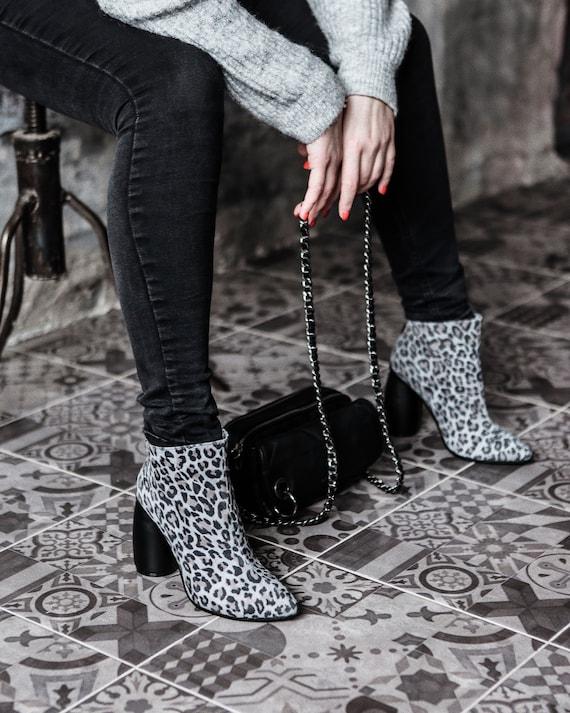 Wo  bottes en en en cuir à talons Chaussures femmes bottines chaussures haut talon chaussures à talons en cuir personnalisé bottes en cuir chaussons bottes Sexy sur mesure | Excellent (dans) La Qualité  5fe8e0