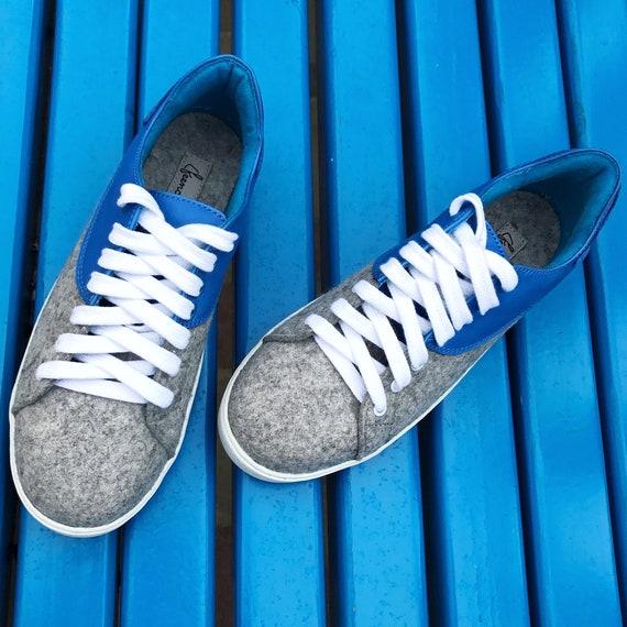 Custom Filz Damen Leder Gefilzt Wolle Sneakers Blau Vans Grau Schuhe Skool Für Ungewöhnlich Alte kXuPZi