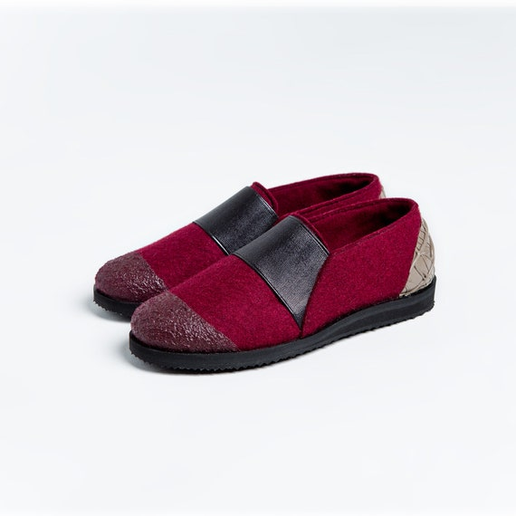 online retailer d7cc5 bb239 Glissez sur sur sur femmes chaussures femmes 7 7 fait à la main personnalisé  Chaussures Slip