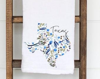 Texas Tea Towel | Texas Flour Sack Tea Towel | Moving Gift | Housewarming Gift | Wedding Gift | Gifts for Her | Gift Idea