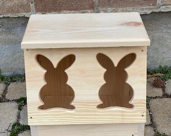 Bunny Cutout Hay Feeder