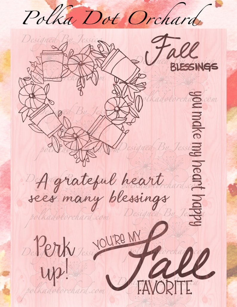 A Grateful Heart Digital Stamp Set image 0