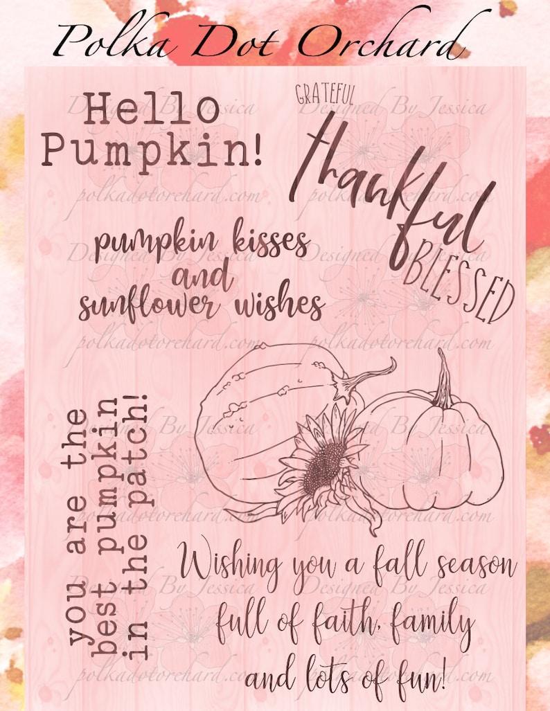 The Best Pumpkin Digital Stamp Set image 0