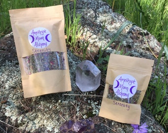 Serenity~7 Sisters ~Sacred Herbal Blend~ Medicinal Herbs~Organic~Herbal Tea~ Incense~ Blue Lotus~