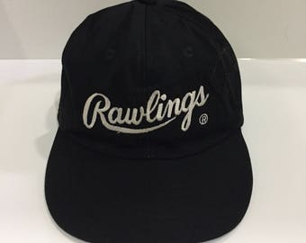 RAWLINGS baseball cap   hat spell out embroidered big logo.. ASICS hat    cap.. Rawlings baseball cap by asics... free size. d98510004b49