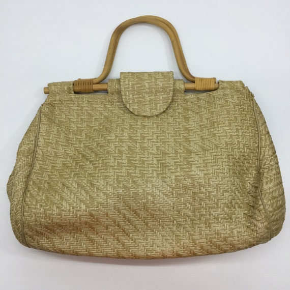 Rattan bag by HATO HASI.. japanese brand.. vintage