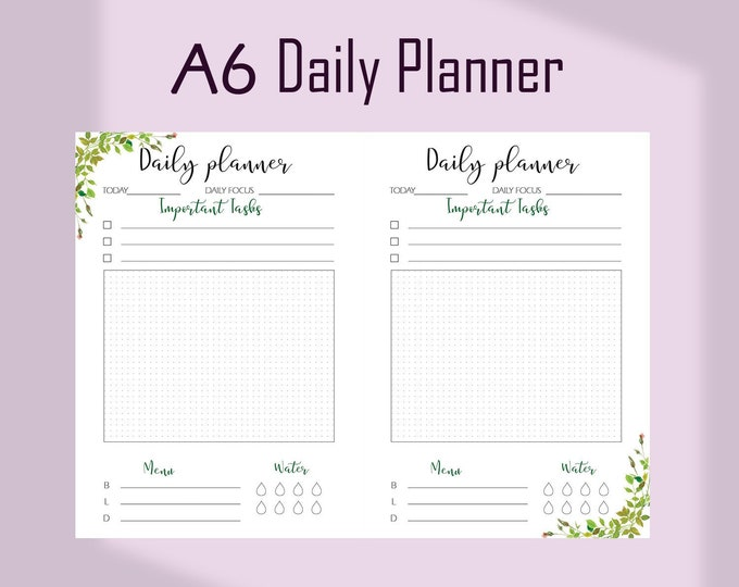 A6 Planner Inserts, A6 TN Inserts, Daily Planner Pages, Do1P