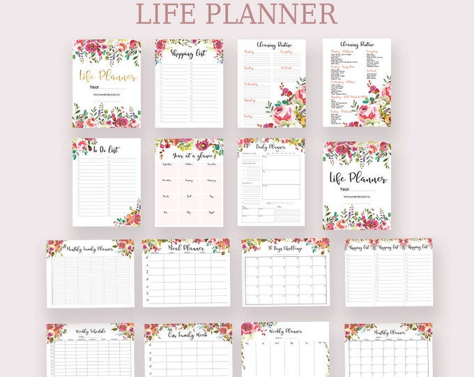 Life Planner Printable Big Happy Planner Inserts Daily Planner Insert Floral Planner 2020 Planner To Do List