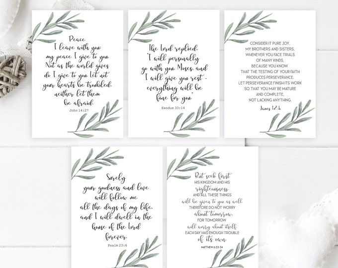 Bible Verse Cards, Bible journaling printable, Bible Verse Prints,  OL-1