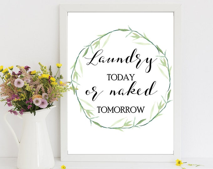 Laundry Room Decor, Laundry Room Sign, Printable Wall Decor