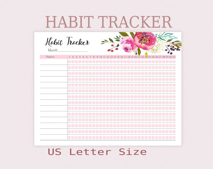 Big Happy Planner Inserts, Habit Tracker Printable, Routine chart