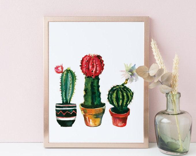 Cactus Wall Art, Cactus Printable, Cactus Wall Decor, Spring Wall Art,
