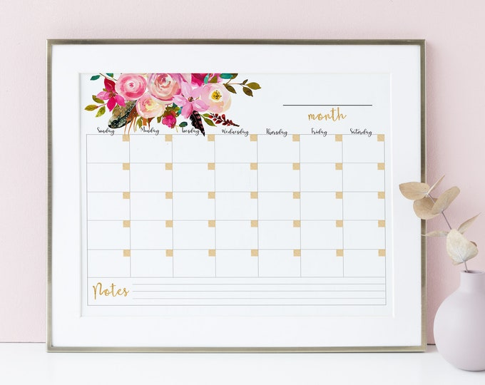 Wall Calendar 2020 Monthly Planner Printable Memo Board Gift