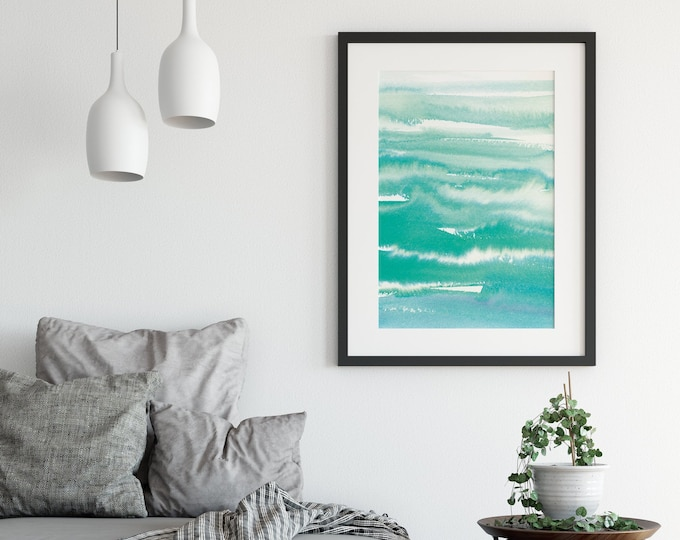 Large Abstract Art Print, Abstract Wall Art, Turquoise Wall Art, Dorm wall art Printable