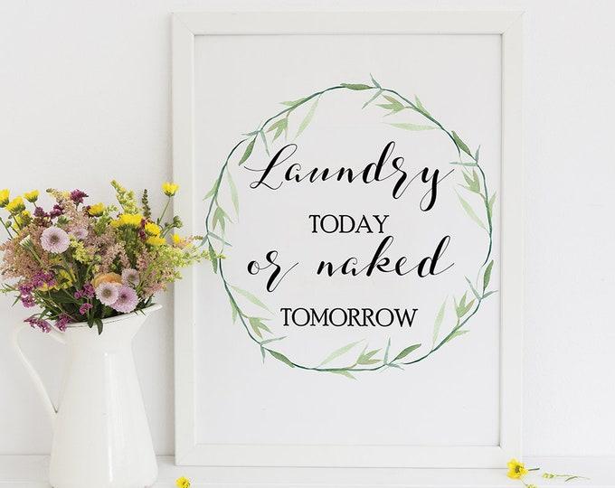 Laundry Room Decor, Laundry Room Sign, Printable Wall Decor