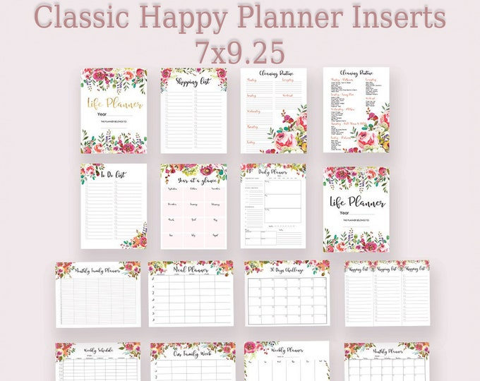 Life Planner Printable, Classic happy planner inserts, Planner 2019 Printable To Do List