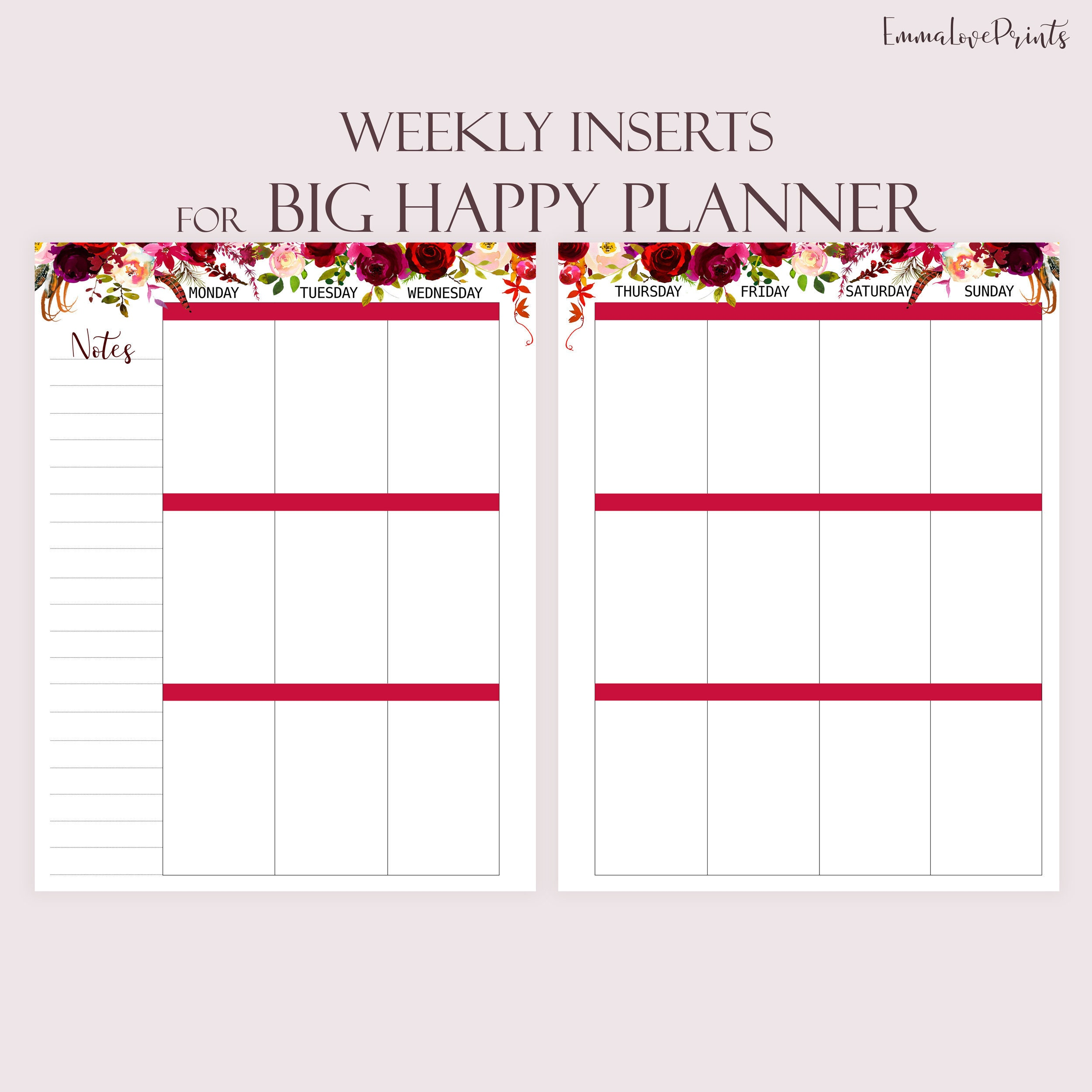 picture regarding Weekly Planner Pages identified as Weekly Planner Webpages, Printable Towards Do checklist developed in direction of match Large