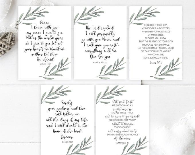 Bible Verse Cards, Bible journaling printable, Bible Verse Prints,  OL-1