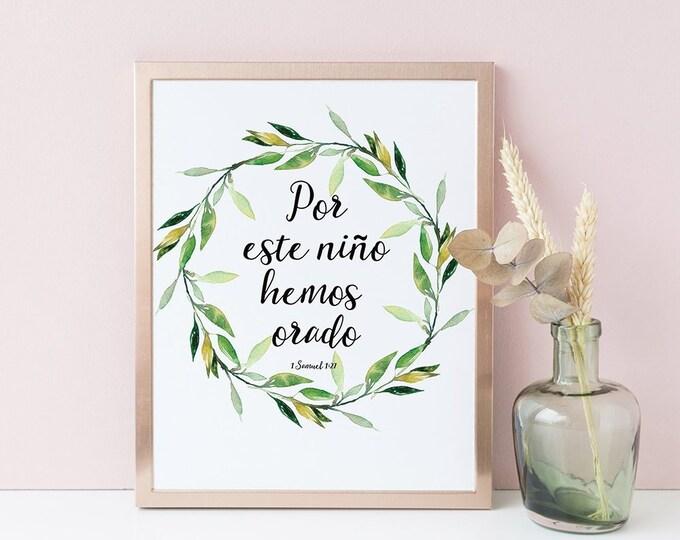 Bible Verse Prints, Spanish Bible Verse Dorm wall art
