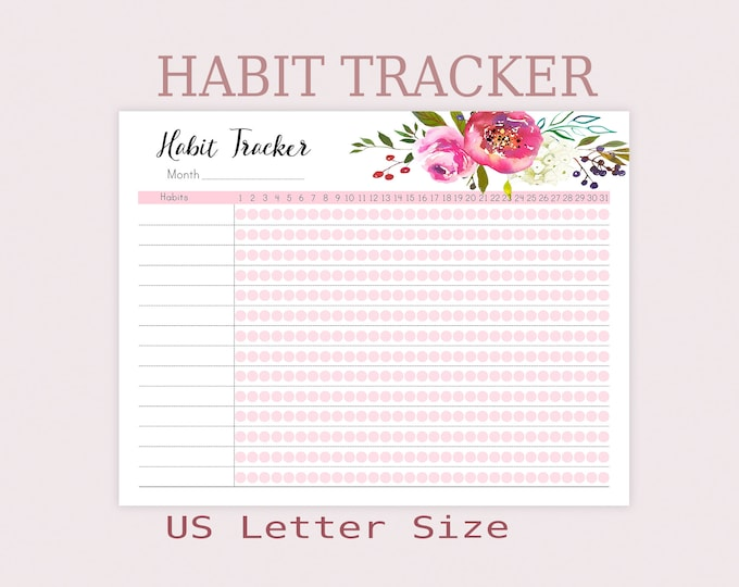 Big Happy Planner Inserts, Habit Tracker Printable, Routine chart