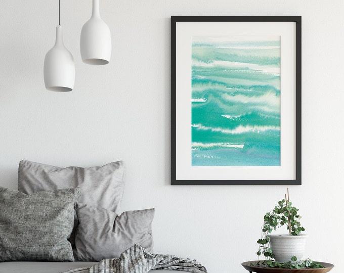 Large Abstract Art Print, Abstract Wall Art, Turquoise Wall Art, Dorm wall art Printable