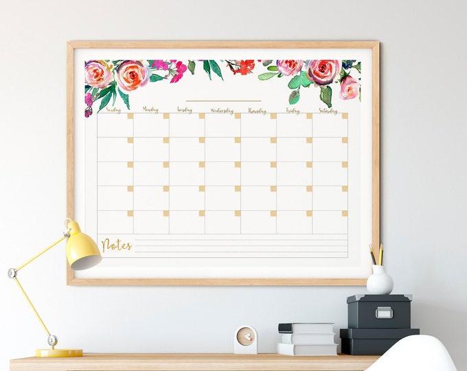 Wall Calendar 2020, Perpetual Calendar, Printable Memo Board Gift