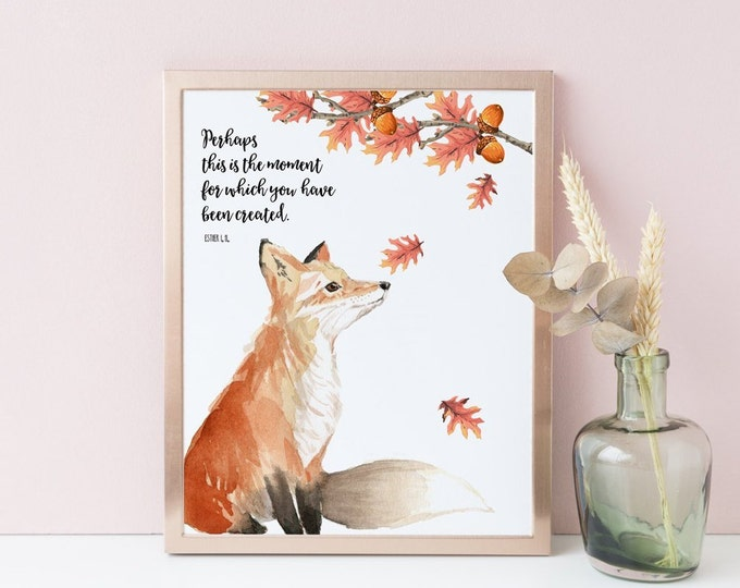 Nursery Wall Art, Fox Print, Fall Printable, perhaps this is the moment