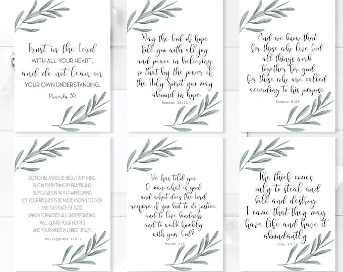 Bible Verse Cards, Bible journaling printable, Bible Verse Prints, Romans 8 28, Jeremiah 29 11 OL-1
