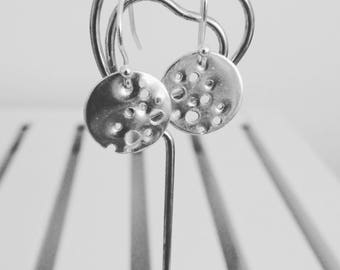 Gorgeous handmade sterling silver drop earrings