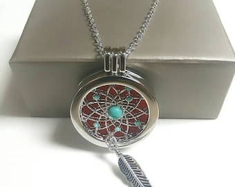 Gorgeous dreamcatcher aromatherapy necklace