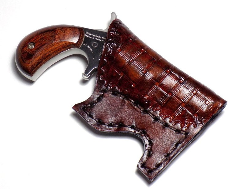 NAA Leather Pocket Holster,  22 Magnum, Brown North American Arms Concealed  Carry Holster, Ambidextrous