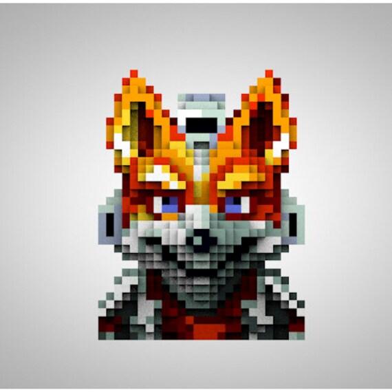 Nintendo Starfox Pixelart Designertoy Toyart