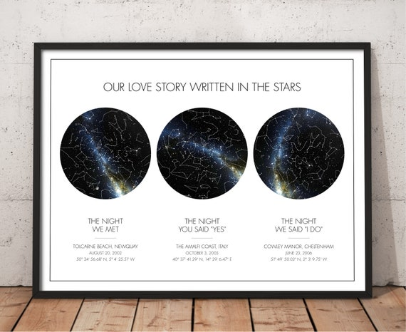 Custom Night Sky Star Map Print Couples Star Map Gift For Etsy