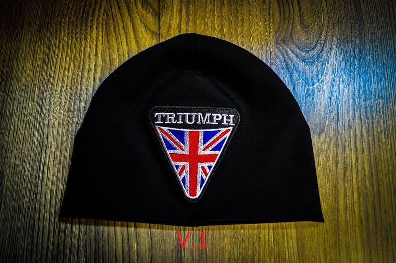 Triumph moto biker beanie hat skull  473821b1fa7