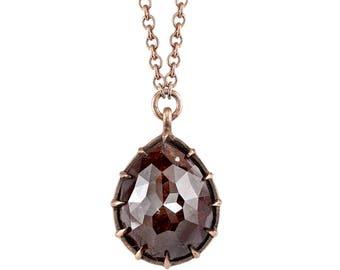 Red Rustic Diamond Pendant