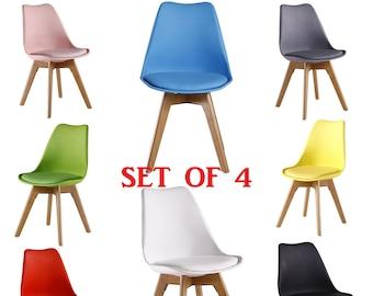 4er Set Jamie Tulip Stilvolle Stuhl Moderne Wohnzimmer Esszimmer Stuhl Mitte  Jahrhundert Design Skandinavischen Möbeln