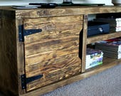 KRUD K23 Medium Oak 120cm - Retro TV Stand Handmade Solid Wood Scaffold Style 24 Colours Industrial Chunky Rustic Country TV Stand Cabinet