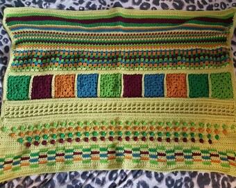 Made-to-order TLC Blanket - Custom Colours - Crocheted