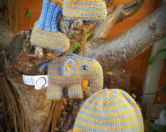 Inspired By That Wizard Film - Newborn Baby Set: Hat, Booties & Elefunk