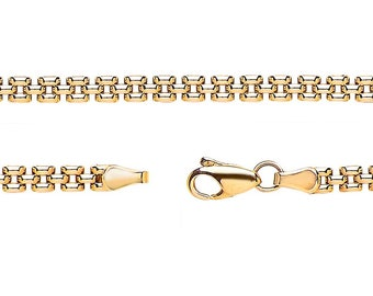 "Panther Link Bracelet Ladies 9ct Yellow Gold 7"" Bracelet Hallmarked"