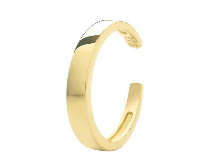 9ct Yellow Gold 3mm Cartilage Cuff 8mm Diameter Hoop Earring