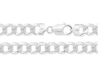 """Gents Solid 925 Sterling Silver 8.5"""" Chunky Curb Chain Bracelet Hallmarked"""