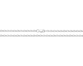 """Rhodium Plated 925 Sterling Silver Diamond Cut Faceted Belcher Chain 16"""" 18"""" 20"""""""