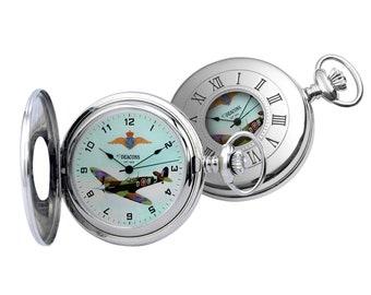 Supermarine Spitfire Mark V Mechanical Pocket Watch - Limited Edition- Engraved Message